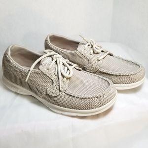 Skechers Max Tan Loafer Boat Shoe Womens Size 8